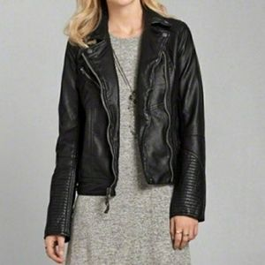 Abercrombie and Fitch faux leather moto jacket